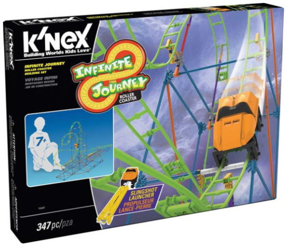 Zooming Up With the K'NEX Infinite Journey Roller Coaster Building Set #KNEX