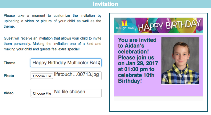 Use Buy Gift Save to Plan a Child's Party & Save for their Future