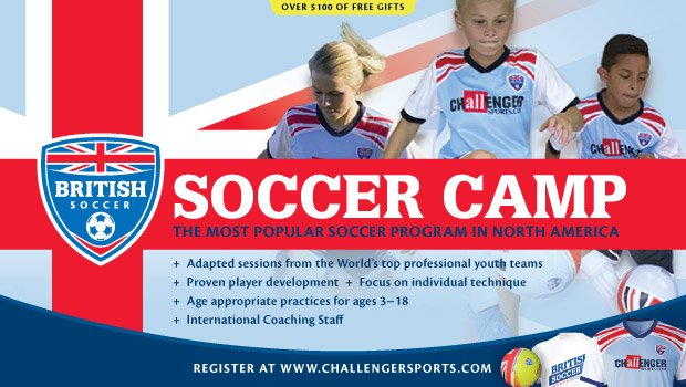 Have Your Child Brush Up on Soccer Skills With British Soccer Camp @usfg @ChallengerCamps