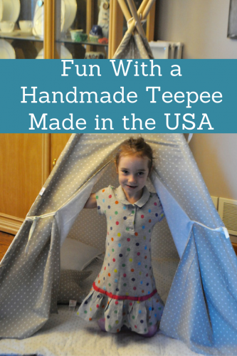Fun With a Handmade Teepee Made in the USA