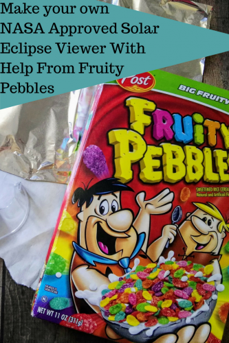 Make your own NASA Approved Solar Eclipse Viewer With Help From Fruity Pebbles #ad @PebblesCereal