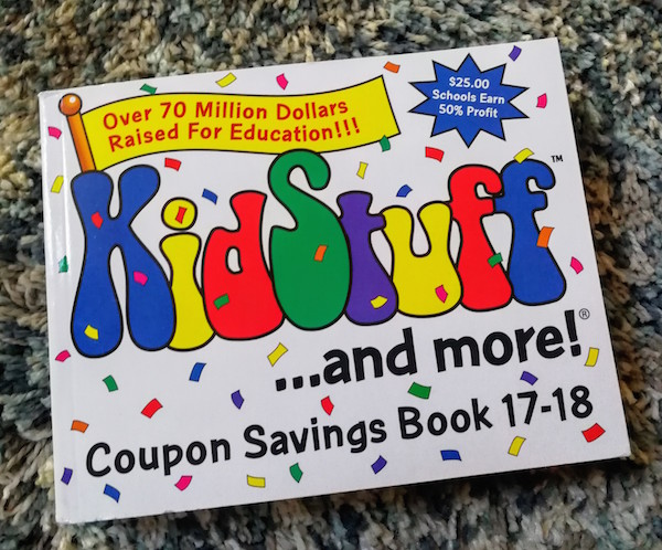 Saving Money on Everyday Purchases & Easy Fundraising With KidStuff Coupon Savings Books (& Giveaway Ends 10/13)