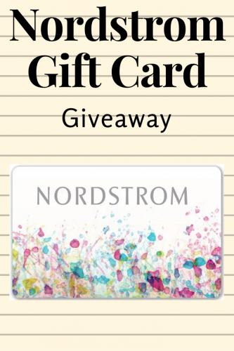 July Nordstrom Insta Giveaway (Ends 8/10)