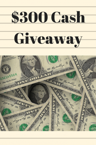 Thanksgiving $300 Cash Giveaway (Ends 11/30)