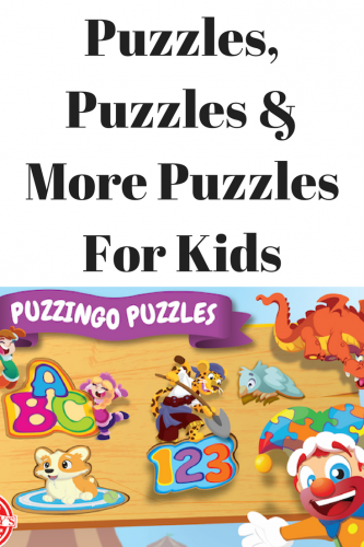 Puzzles, Puzzles & More Puzzles For Kids
