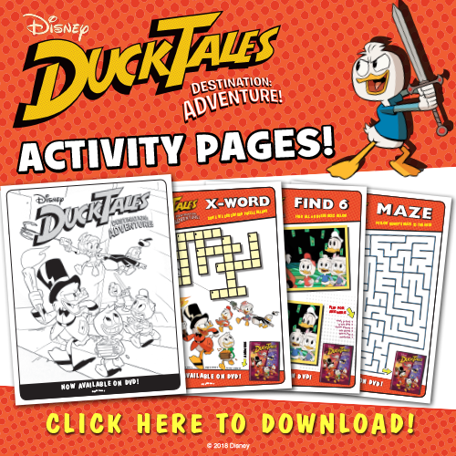 Don't Miss These Disney's DuckTales Destination: Adventure Activity Sheets