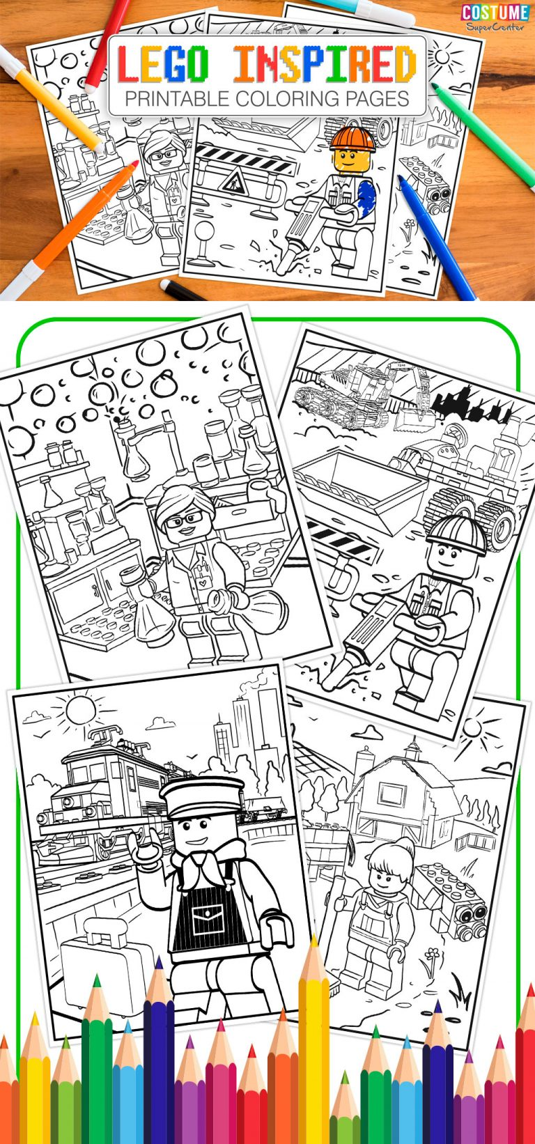 Lego Inspired Printable Coloring Pages Mom And More