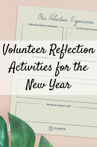 Volunteer Reflection Activities for the New Year