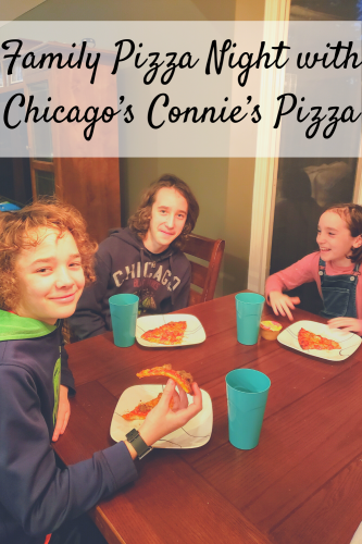 Family Pizza Night with Chicago's Connie's Pizza